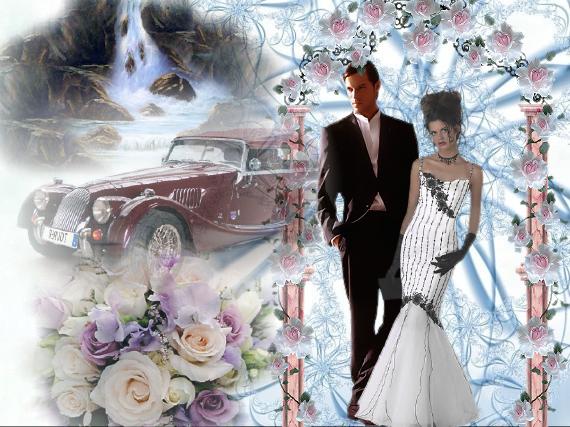 Carte de félicitation de mariage. F1