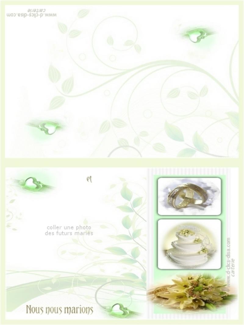Carte de félicitation de mariage. Faire-part-mariage-a-imprimer-gratuit-tendance-d-clics-disa